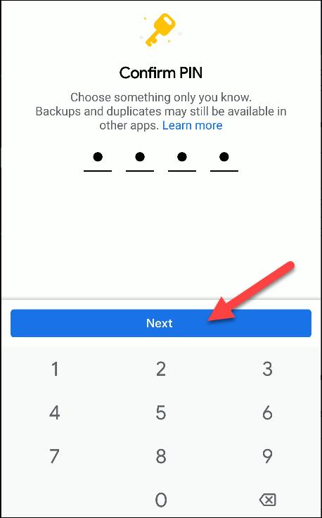 archivos de google confirmar pin
