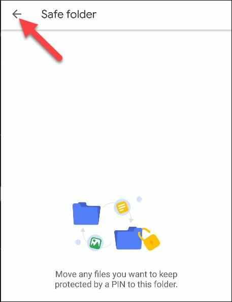 archivos por carpeta segura de google