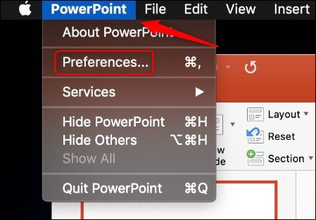 Preferencias de PowerPoint