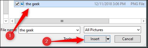 Seleccionar la imagen del Explorador de archivos