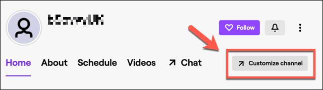 """En tu perfil de canal de Twitch, haz clic en el botón """"Personalizar canal""""."""