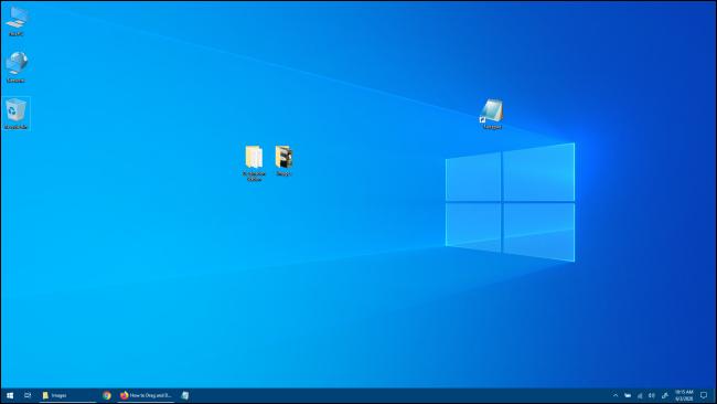Escritorio de Windows 10 sin Windows de aplicaciones