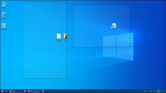 Vistazo de escritorio de Windows 10