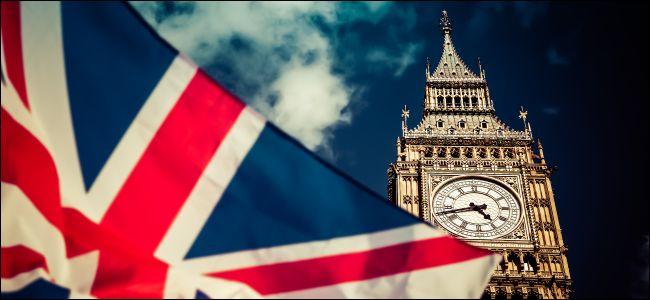 La bandera del Reino Unido y el Big Ben en representación del parlamento