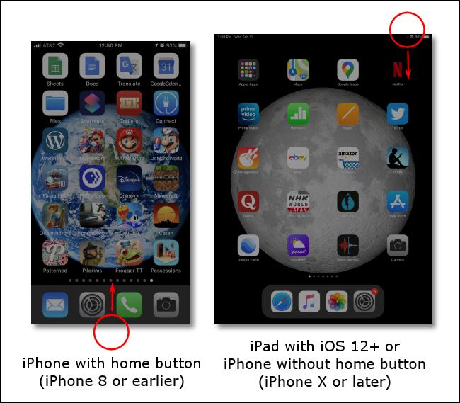 Cómo iniciar el Centro de control en iOS