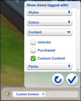Filtro de contenido personalizado de Los Sims 4