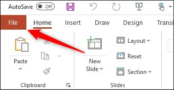 Pestaña Archivo para Windows Office
