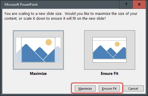 """Haga clic en """"Maximizar"""" o """"Asegurar ajuste""""."""