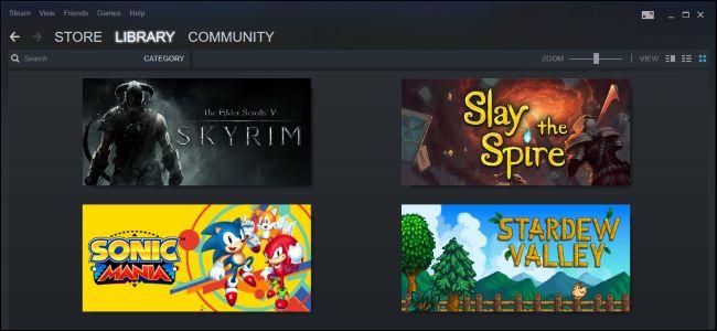 Biblioteca de juegos de Steam