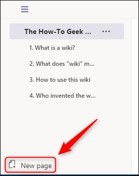 """La opción """"Nueva página""""."""