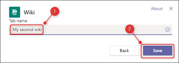 La ventana para nombrar una nueva wiki.