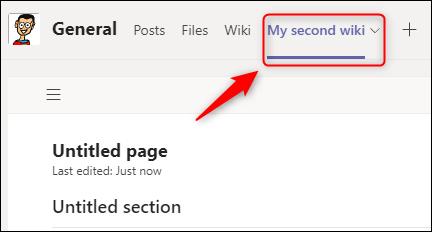 La nueva wiki agregada a las pestañas del canal.