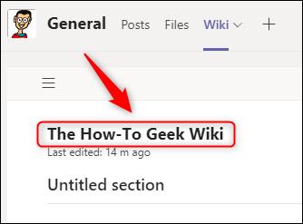 Una página wiki renombrada.