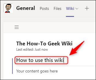 Una sección wiki renombrada.