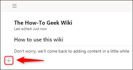 """El nuevo icono de sección """"+""""."""
