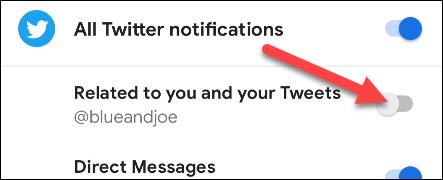 apagar el canal de notificación