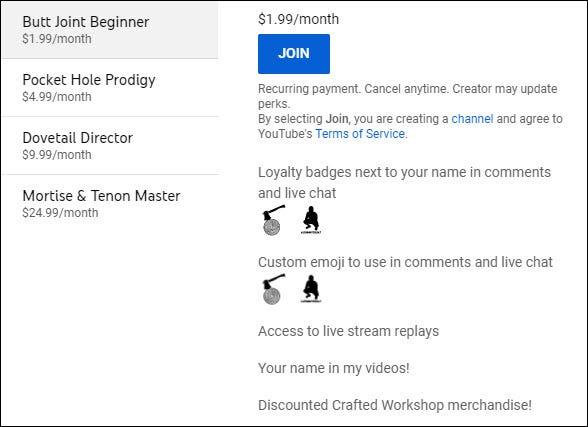 ventajas de membresía de youtube