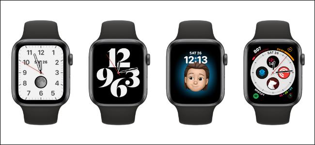 Diferentes caras de reloj para Apple Watch