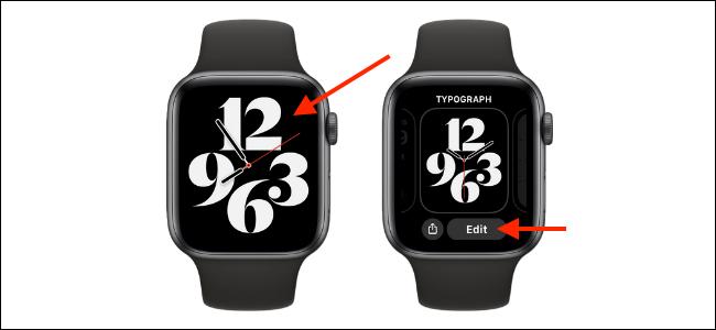 Ingrese al modo de personalización para Apple Watch