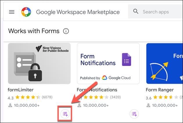 """Haga clic en """"Instalar"""" para agregar formLimiter a sus complementos de Google Forms."""