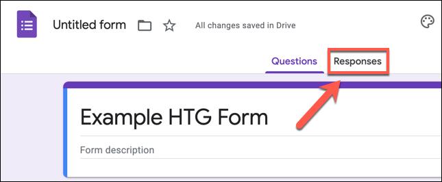"""Para ver las respuestas de Google Forms, cargue el formulario en su navegador web y presione la pestaña """"Respuestas""""."""