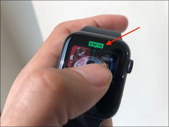 Suelte el dedo después de mover la esfera del reloj