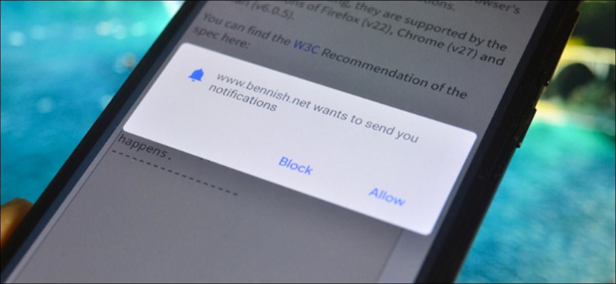 Ventana emergente de solicitud de notificación en Chrome para Android