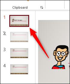 Diapositiva seleccionada en PowerPoint