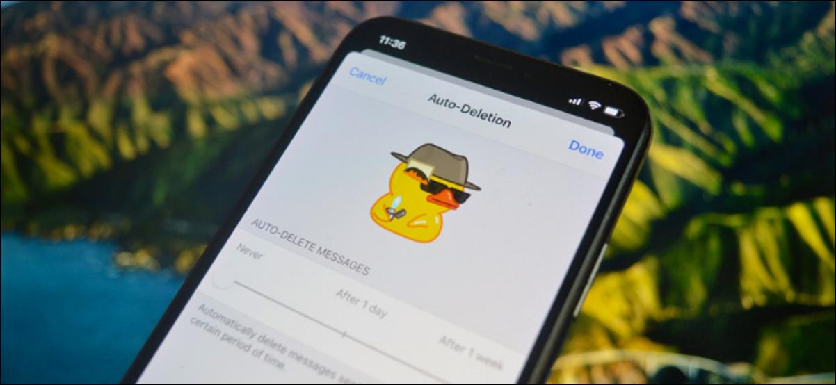 Usuario de Telegram elimina mensajes automáticamente después del tiempo establecido