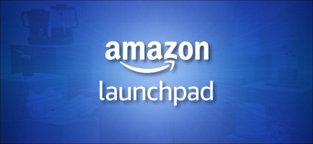 Logotipo de Amazon Launchpad sobre fondo azul