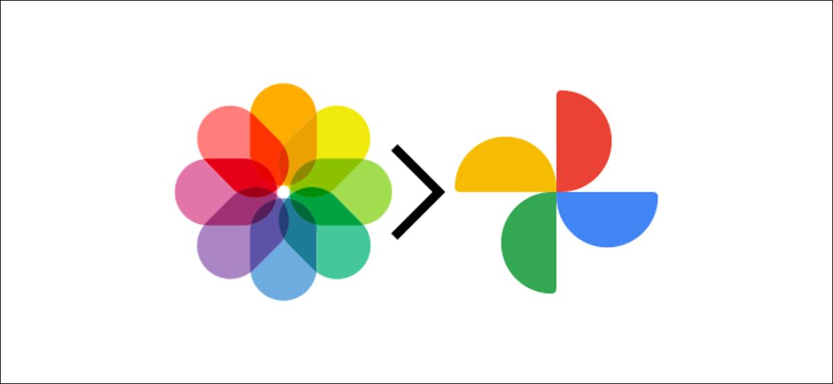 fotos de apple y logotipos de google photos
