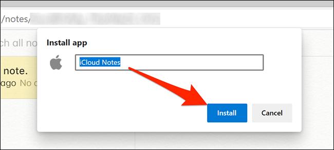 Instalar la aplicación Notes en Edge