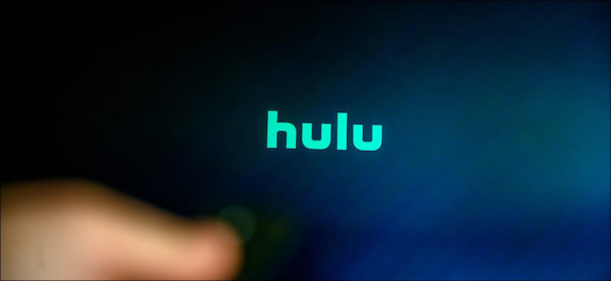 Logotipo de Hulu en un televisor inteligente