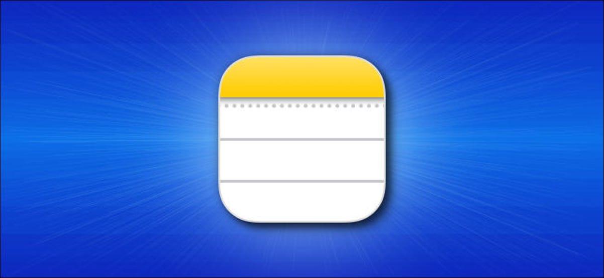 Icono de la aplicación Apple iPhone Notes