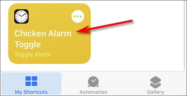 Un ejemplo de un acceso directo en la aplicación de accesos directos de iPhone.