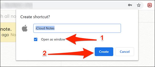 Configurar la aplicación Notes en Chrome