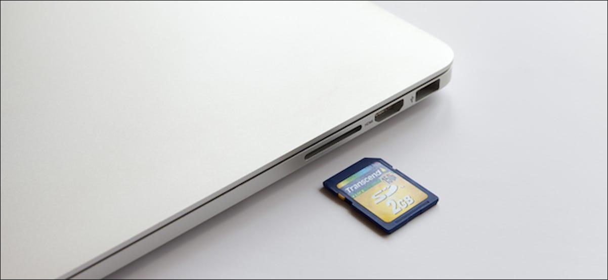 Usuario de MacBook formateo de una tarjeta SD
