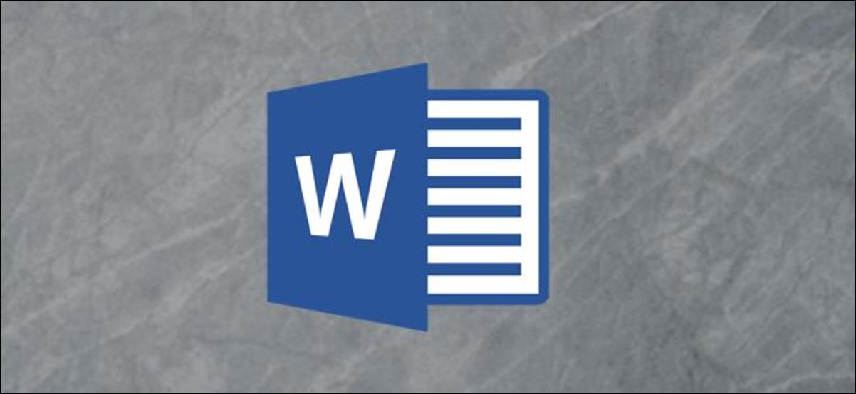 Logotipo de Microsoft Word sobre un fondo gris