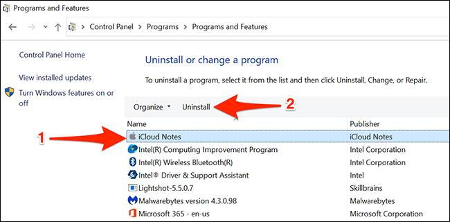 Desinstalar la aplicación Notes en Windows 10