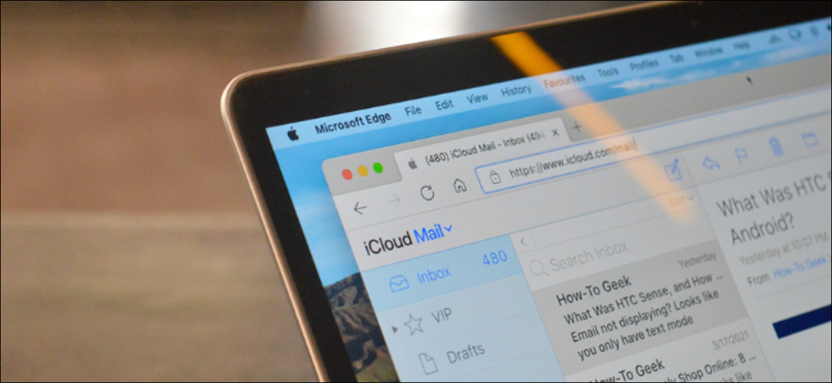 Usuario de Apple que usa iCloud Mail en un navegador de terceros