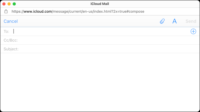 Redactar correo electrónico en iCloud Mail