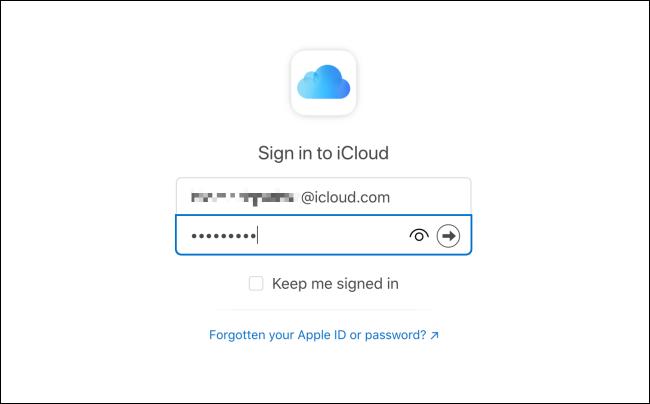 Iniciar sesión en iCloud Mail