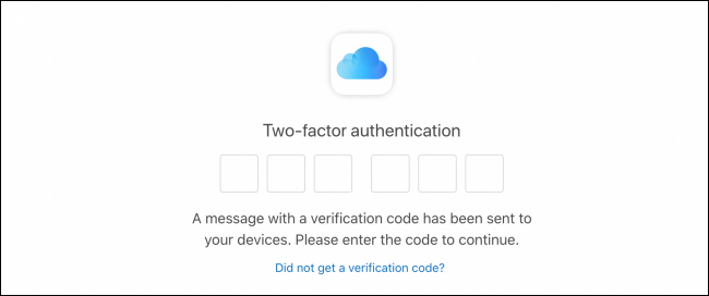 Autenticación de dos factores para iniciar sesión en iCloud Mail