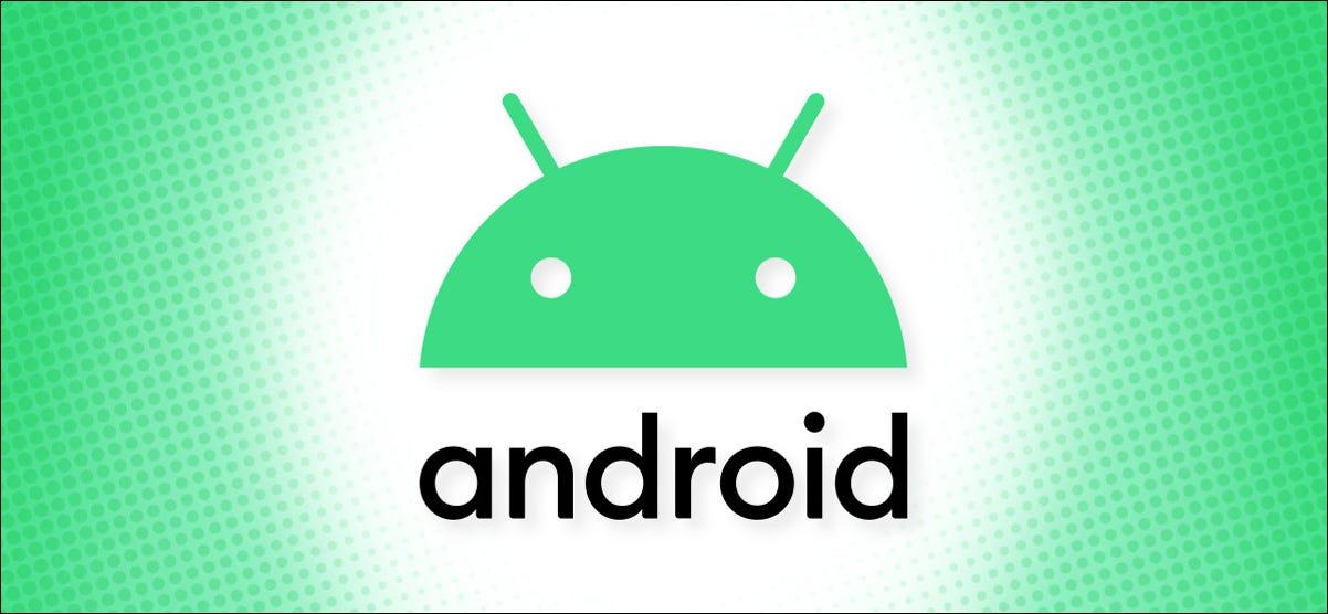 Logotipo de Android en un héroe de fondo verde