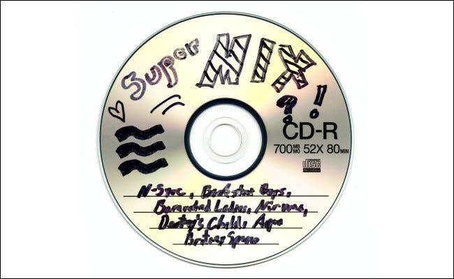 Un CD de mezclas de finales de los noventa
