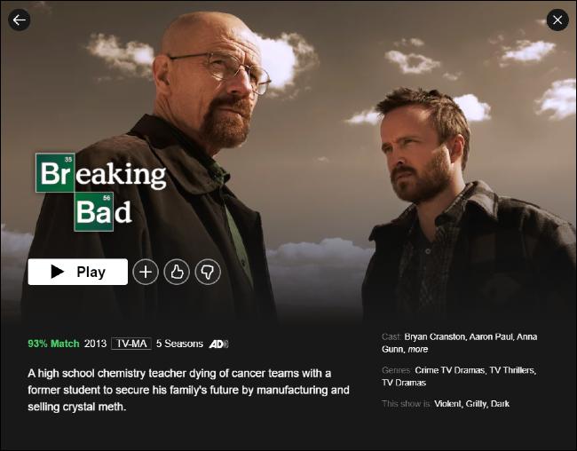 Breaking Bad en Netflix