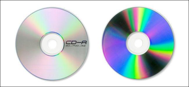 El anverso y el reverso de un CD-R.