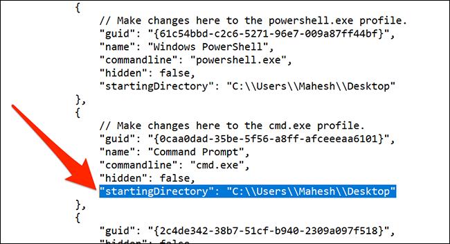 Cambiar el directorio predeterminado del símbolo del sistema