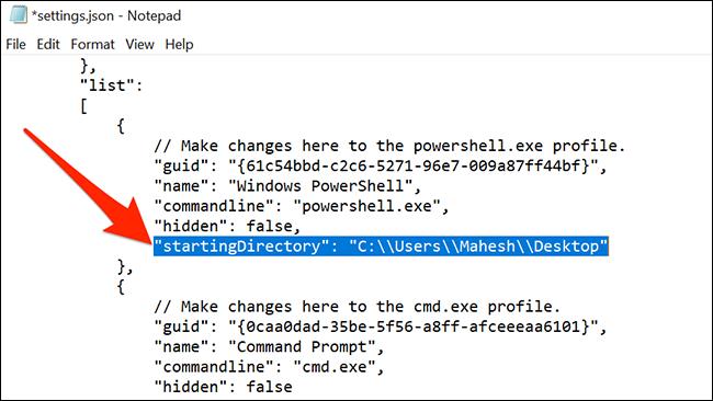 Cambiar el directorio predeterminado de PowerShell
