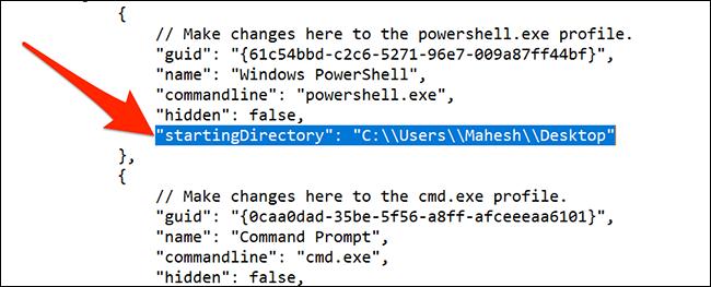 Restablecer el directorio predeterminado en la Terminal de Windows